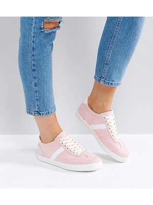 Asos DELPHINE Wide Fit Stripe Lace Up Sneakers