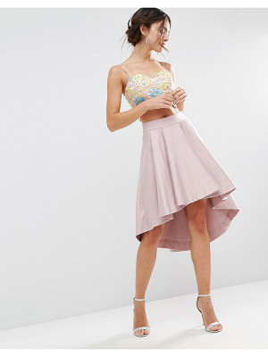 ASOS Premium Dip Back Prom Skirt In Structured Fabric