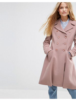 ASOS Double Breasted Skater Coat