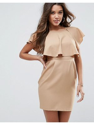 ASOS DESIGN asos double layer mini wiggle dress with angel sleeve