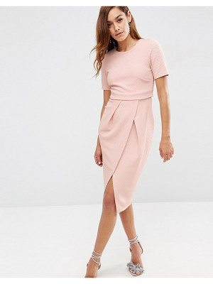 ASOS DESIGN asos double layer textured wiggle dress
