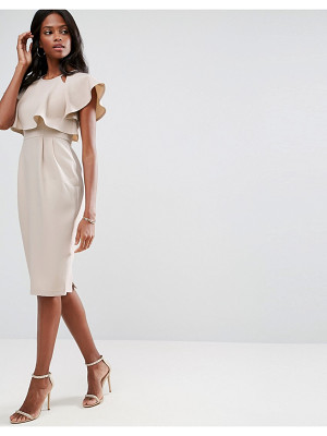 Asos Double Layer Wiggle Dress With Cut Outs and Angel Sleeve