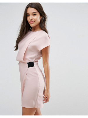 ASOS Drape Front Mini Dress With Elastic Detail
