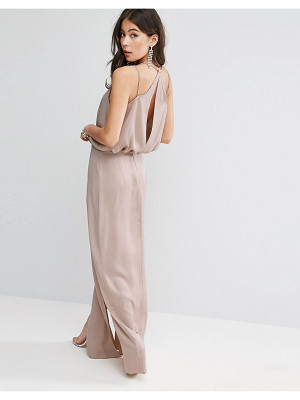 ASOS Drape Front Strappy Back Maxi Dress