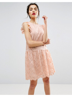 Asos Dropped Waist Lace Dress