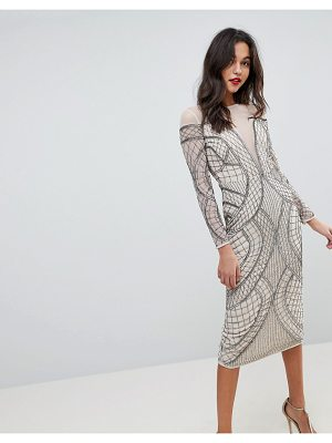 ASOS Edition embellished ergonomic bodycon midi dress