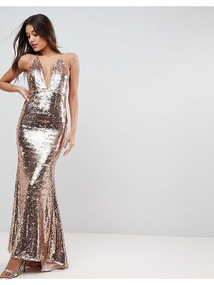 ASOS Embellished Cami Fishtail Maxi Dress