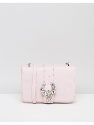 ASOS Embellished Encrusted Cross Body Bag With Buckle