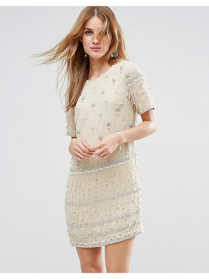 Asos Embellished Tassle Fringe Shift Dress