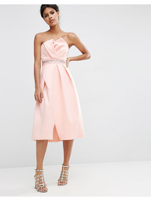 ASOS Embellished Trim Folded Bandeau Prom Dress