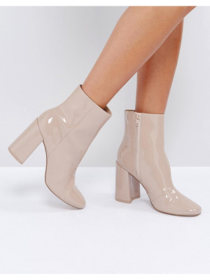 ASOS Engage Patent Ankle Boots