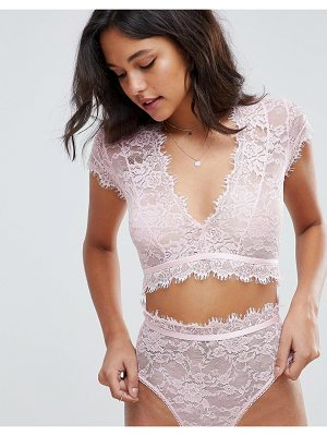 ASOS DESIGN asos eyelash lace crop bralette