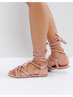 ASOS Factor Tie Leg Flat Sandals