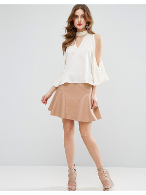 Asos Flippy Mini Skirt in Leather Look
