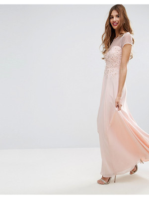 Asos Floral Applique 3D Embellished Maxi Dress