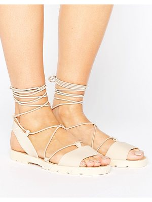 ASOS Flutter Tie Leg Jelly Sandals