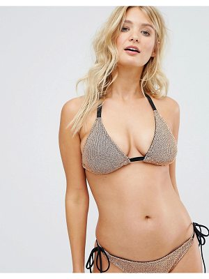 ASOS Fuller Bust Chain Mail Effect Triangle Bikini Top