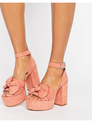 ASOS Halo Platform Bow Sandals