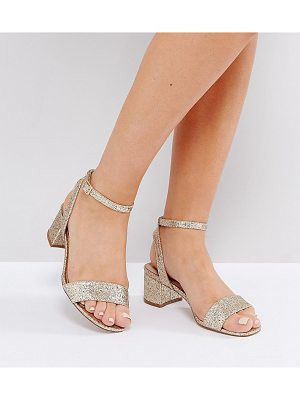 Asos HAPPENING Wide Fit Mid Heeled Sandals