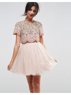 ASOS Heavily Embellished Tulle Mini Prom Dress