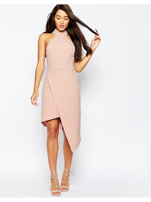 ASOS High Neck Asymmetric Dress