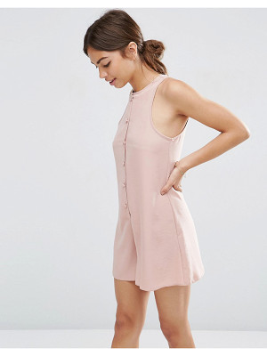 ASOS High Neck Button Front Swing Romper