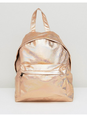ASOS Textured Metallic Hologram Backpack