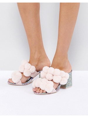 ASOS Hot Topic Pom Pom Heeled Sandals