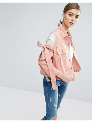 Asos Jacket with Bow Cold Shoulder