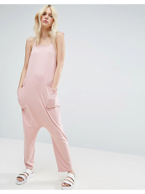 ASOS Jersey Minimal Jumpsuit With Ties