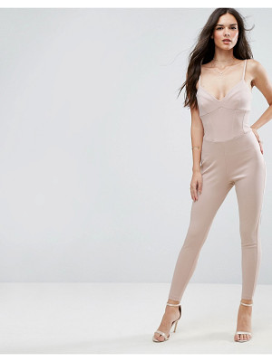ASOS Jumpsuit With Corset Waist Detail In Bandage