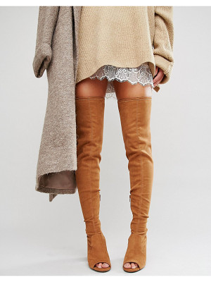 ASOS Kastor Over The Knee Peep Toe Boots