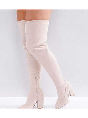 ASOS Katcher Wide Fit Heeled Over The Knee Boots