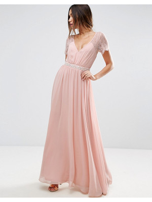 Asos ASOS Kate Lace Embellished Trim Maxi Dress