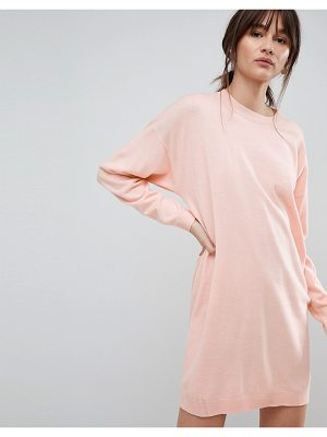 ASOS DESIGN asos knitted oversized crew neck dress