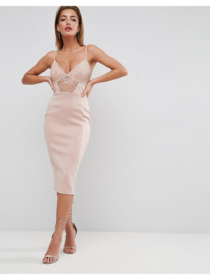 ASOS Lace Cupped Midi Dress