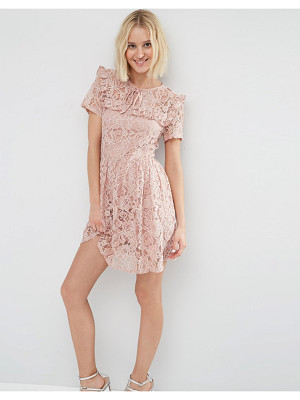 ASOS Lace Ruffle Yoke Skater Dress