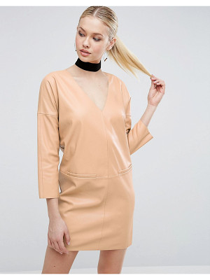 ASOS Leather Look Shift Dress