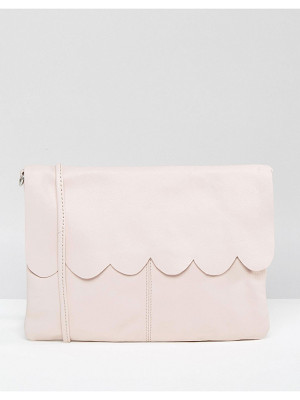 Asos Leather Scallop Cross Body With Detachable Strap