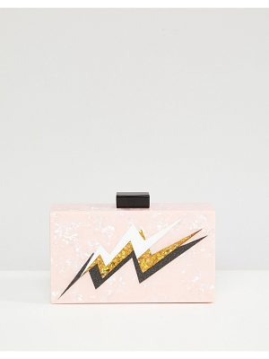 ASOS Lightning Bolt Marble Clutch Bag