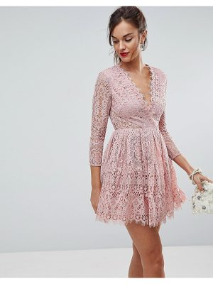 ASOS Long Sleeve Lace Mini Prom Dress
