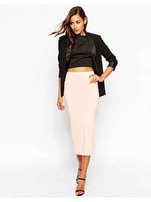 Asos Longer Length Midi Pencil Skirt