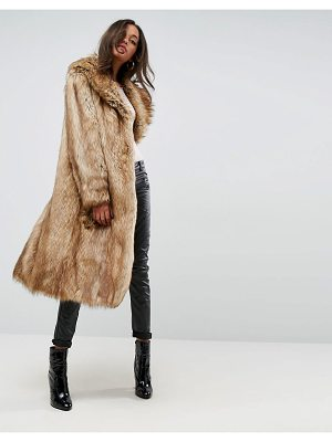 ASOS Luxe Maxi Coat In Faux Fur