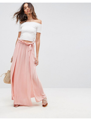 ASOS Maxi Skirt With Belt And Thigh Split