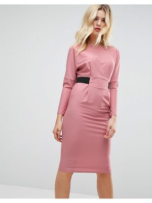 ASOS Midi Dress With Elastic Waist Detail