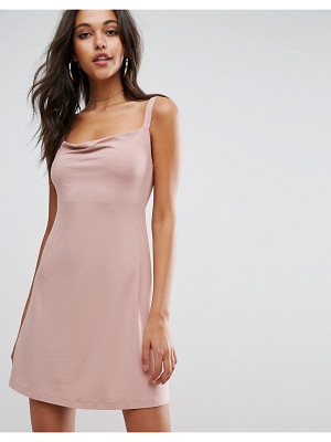ASOS Mini Cowl Front Swing Dress