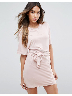 ASOS Mini Dress With Self Tie Belt