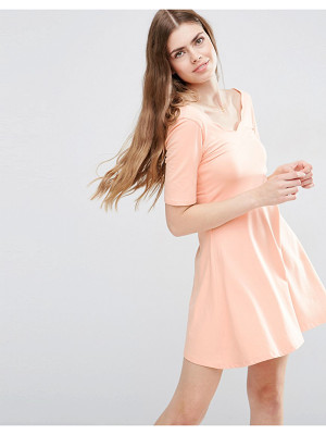 ASOS Mini Skater Dress With Scallop Neckline