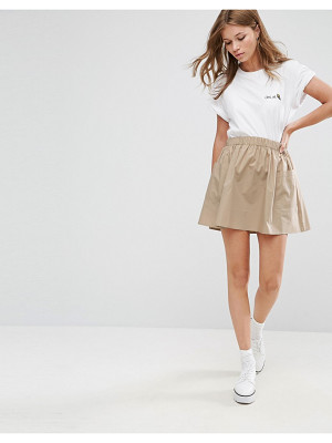 ASOS Mini Skater Skirt In Cotton Poplin With Pockets