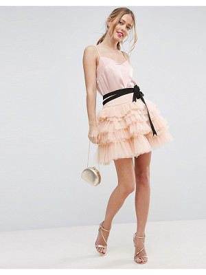 Asos Mini Tulle Skirt with Grosgrain Tie